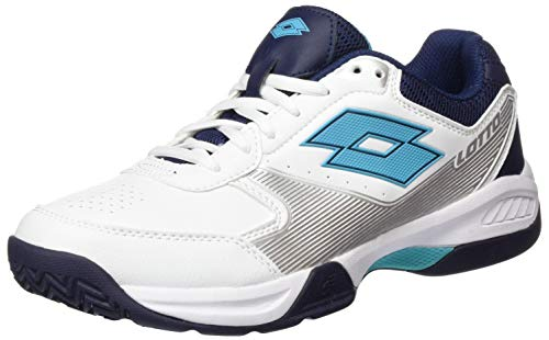 Lotto Hommes Space 600 Allcourt Chaussures De Tennis Chaussure Tout Terrain Blanc - Bleu Foncé 46