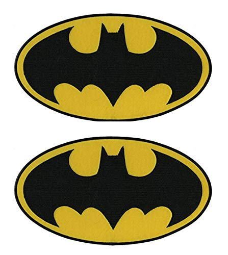 Antrix 2 Pcs Tactical Dark Knight Batman Patch DC Comics Movie Classic Superhero Batman Logo Applique Patch Hook and Loop Military Batman Badge Morale Patch -Oval 4.25x2.5""