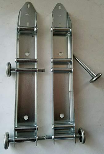 For Sale! New Garage Door Low Headroom Quick Turn Brackets with Steel Rollers - Pair
