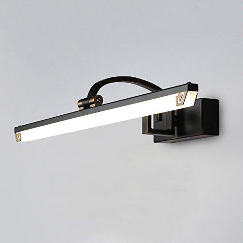 Spiegel Scheinwerfer, LED Waschtisch Schlafzimmer Badezimmer Waschtisch Kommode Einstellbare Eisen 11W Schwarz