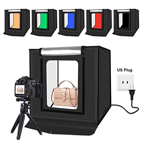 SAKARA 撮影ボックス 40 * 40 * 40cm 小型撮影ボックス 2行LEDライト64pcs 光度調整可能 折りたたみ式 背...