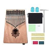 perfk カリンバ アフリカ 指ピアノ フィンガーパーカッション 木製 収納バッグ付き - カラー1