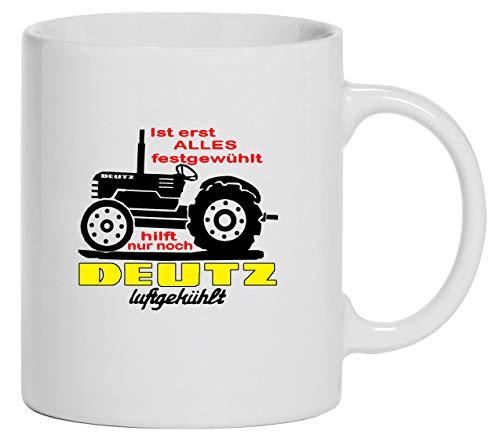 Bimaxx Traktor Tasse | Kaffeebecher | Schlepper | Ist Alles festgewühlt, hilft Deutz Luftgekühlt