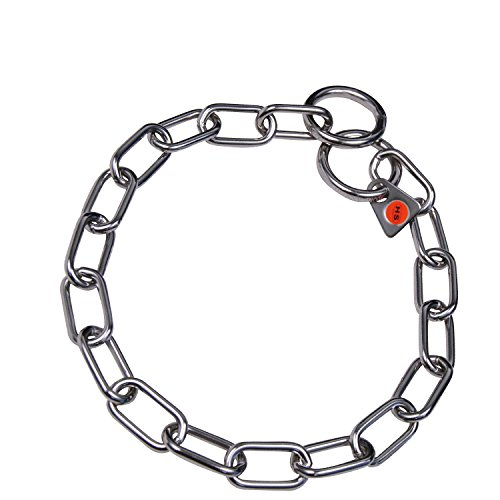 Sprenger Kettenhalsband Mediumkette mit 2 Ringen Edelstahl 3 mm für Hunde bis 55 kg (67 cm)