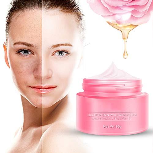 Crème blanchissante, Brighten Skin Whitening Cream, Crème éclaircissante pour visage, Crème anti taches brunes, Réparant et Éclaircissant - 28 jours, rapide et efficace