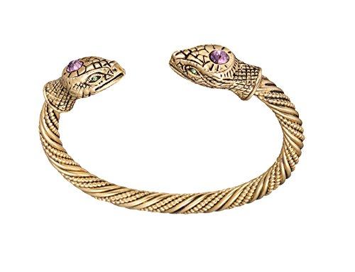 Dawapara - Pulsera para hombre y mujer, diseño de serpiente vikinga