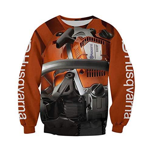 Unisex 3D Full Printing Beautiful Chainsaw Tool Zip Hoodie Harajuku Sweatshirt Black S