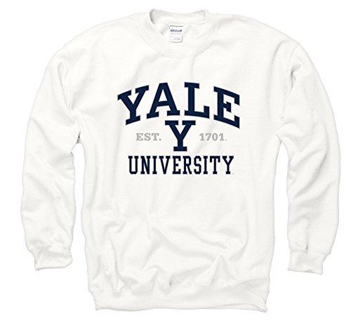 Yale University Bulldogs Crew Sweatshirt, Anthrazit, Herren, weiß, Größe S