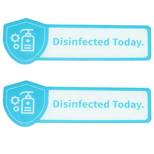 Milisten 2 Stück Öffentliche Warnschilder Desinfiziert Heute Schild Informationssicherheitsschild Arbeitsplatzsicherheitsschild für Krankenhäuser in Öffentlichen Toiletten