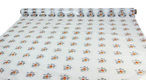 CASA TESSILE Tovaglia plastificata Trasparente h 140 cm. al Metro Cristal Margherite