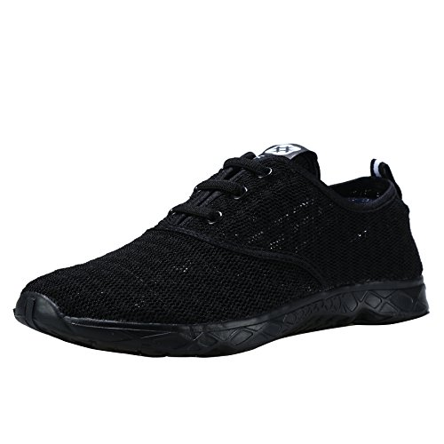 Dreamcity Men's Water Shoes Athletic Sport Lightweight Walking Shoes Black