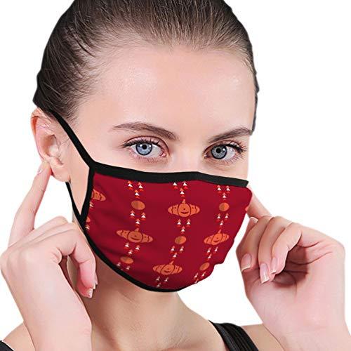 N/A Máscara de Boca Reutilizable Lavable para Hombres Mujeres Plantilla de Fiesta de Halloween patrón Castillo embrujado murciélagos Luna Llena Refrescante