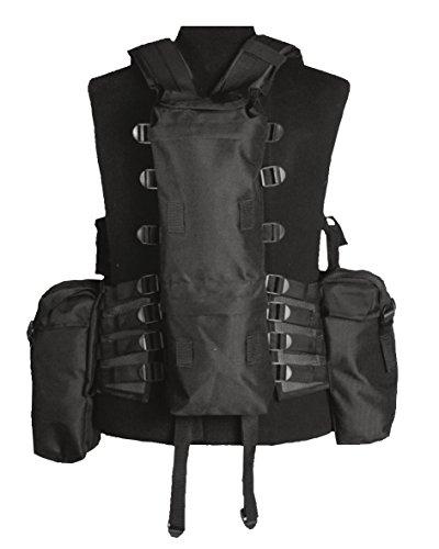 Mil-Tec Herren Tactical 12 TA Einsatzweste, Schwarz, One Size