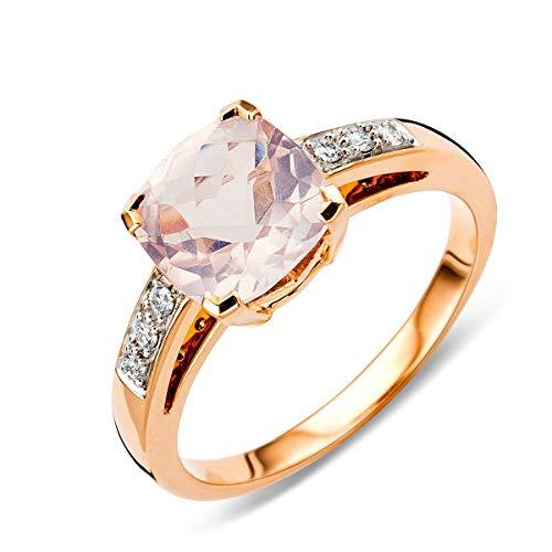 Miore MP9070R Rojo Oro cuarzo anillo de compromiso 9KT (375) con brillantes 0,06ct, dorado