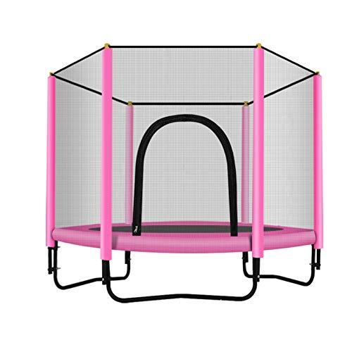 Trampoline met veiligheidsnet - Trampolines voor kinderen - Maximaal gewicht: 100 kg - Fitness-trampoline, trampoline voor binnen en in de tuin, ideaal voor kinderen en volwassenen,Pink