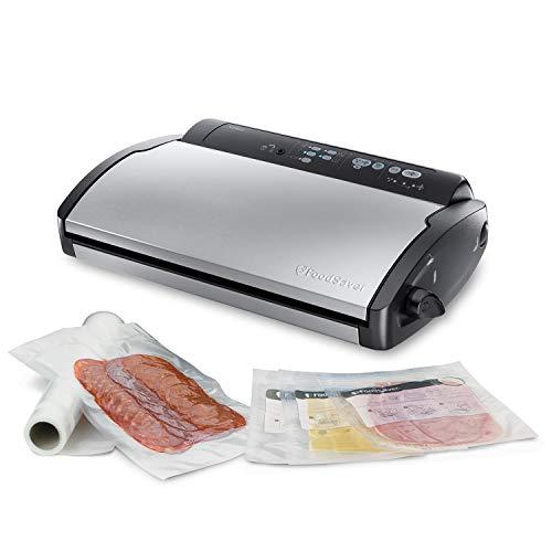 FoodSaver V2860 - Envasadora al vacío, 2 tipos de envasado, 3 velocidades, color negro y plata, 43 x 29 x 10.5 cm