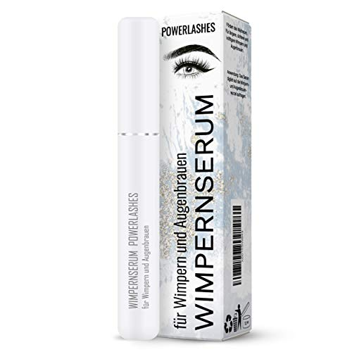 PowerSupps POWERLASHES Wimpernserum und Augenbrauenserum für den perfekten Augenaufschlag – Wimpernwachstum – 7 ml – vegan und tierversuchsfrei