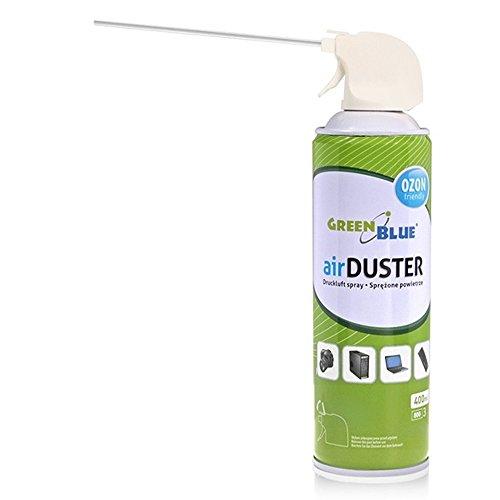 Green Blue GB400 Druckluft Spray 400ml Air Duster Reinigung Druckluftspray Druckluftreiniger Pressluft Computer Reiniger