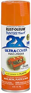 Rust-Oleum 249095 Painter's Touch 2X Ultra Cover, 12-Ounce, Real Orange