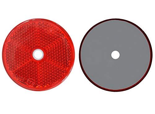 FKAnhängerteile 4 x Spot – Réflecteur arrière – Vis – Ø 60 mm – Rouge – E de marque de contrôle