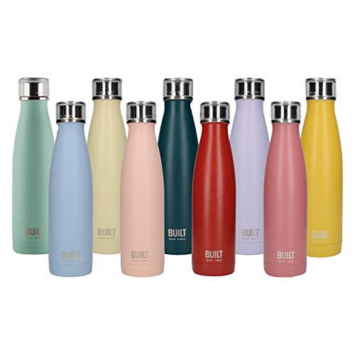 BUILT Perfect Seal Botella de Agua de Acero Inoxidable con Aislamiento de Doble Pared, 480 ml