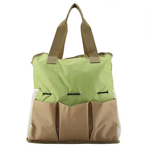 Greensen Garten Werkzeugtasche, Gartenwerkzeug Tasche aus Hochwertigem Leinwand, Garten Werkzeug Aufbewahrungstasche, Gartengerätetasche mit Kleinen Taschen Wasserdicht Gartengeräte Organizer