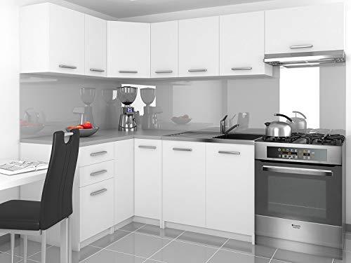 Tarraco Comercial - Mobili da cucina completa, modello Lidia, colore bianco, 360 cm