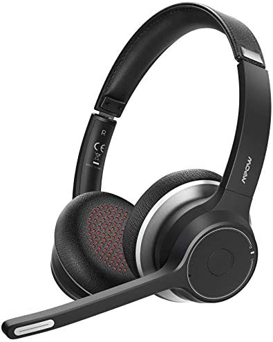 Mpow HC5 Bluetooth Headset V5 0 Wireless Headphones with Dual Microphone CVC8 0 Noise Canceling product image