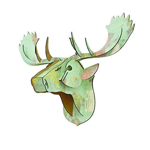 Decoración de la Pared con Cabeza de Animal, Cabeza de Ciervo, Cabeza de Ciervo Hecha a Mano, Estatua, Cabeza de Trofeo, Cubierta de cartón, Juguetes educativos