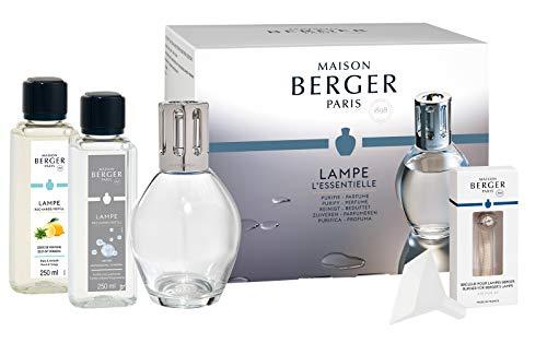 Lampe Berger Starter-Set NEW EDITION OVAL | inkl. Broschüre und Anleitung | inkl 2 x 250 ml Duft | Deine Lampe - Dein Duft von Maison Berger