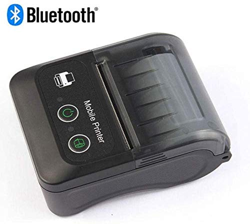 YAYY 2 inch Bluetooth Belegprinter 58-mm draagbare mobiele mini-Thermoprinter met oplaadbare batterij Compatibel met Android iOS Windows voor kleine bedrijven (upgrade)
