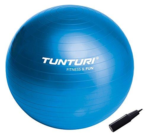 Tunturi Gymnastikball 90 cm, Fitnessball für Yoga, Pilates, Sitzball für Home Office, Büro