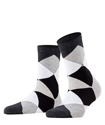 Burlington Damen Socken Bonnie, Baumwollmischung, 1 Paar, grau (oil mel. 3986), 36-41