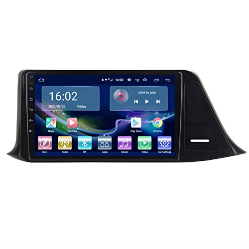 TIANDAO Android Autoradio Radio Doble DIN Sat Nav 2.5D Pantalla táctil Navegador GPS FM Am Reproductor de Control del Volante Adecuado para Toyota CHR 2016-2018(U.S.Edition)(Color:4G+WiFi 4G+64G)