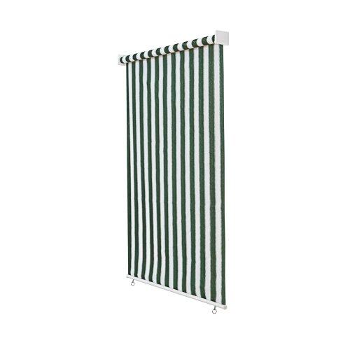 jarolift Tenda da Sole a Rullo per Esterno/Tende Verticali, (larg.x Lung.) 100 x 240 cm Verde - Bianco