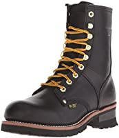 Ad Tec Mens 9 Inch Lug Sole Super Logger Work Boot, Goodyear Welt Construction with Full Grain Crazy Horse Leather...