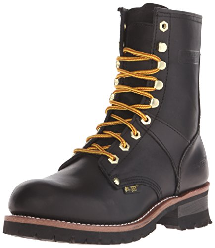 Ad Tec Mens 9 Inch Lug Sole Super Logger Work Boot, Goodyear Welt Construction with Full Grain Crazy Horse Leather Smooth Lining and Shock Absorbing Non Slip Rubber Insole, Utility Footwear for Men