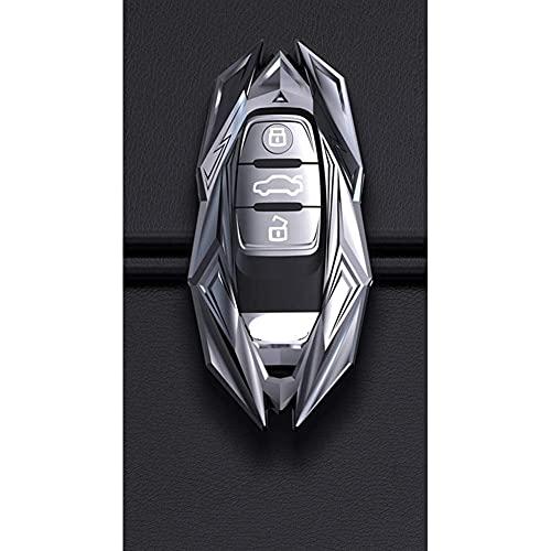 Z0XPin - Carcasa de aleación de zinc para llave inteligente para Audi A1 A3 Q2L Q3 S3 S5 S6 R8 TT TTS Q7 Q5 A6 A4 A4L Q5L A5 A6L A7 A8 Q8 (plata)