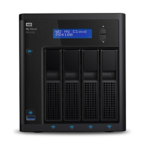 WD Diskless My CloudPro Series PR4100 Network Attached Storage - NAS - WDBNFA0000NBK-NESN
