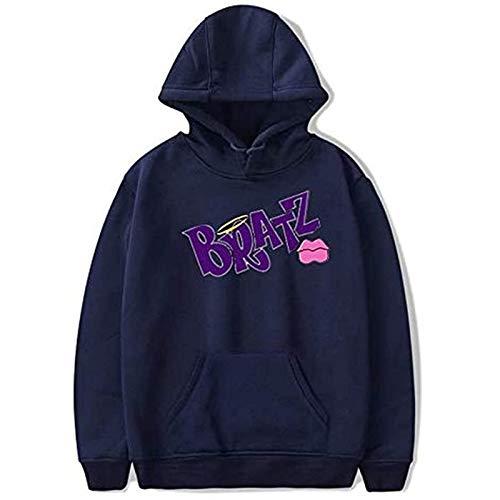 Bratz Rock Angelz Harajuku Print Pullover Sweatshirt Streetwear Hip Hop Sweater Fashion Student Teenage Couple Sweatshirt (XS-3XL)