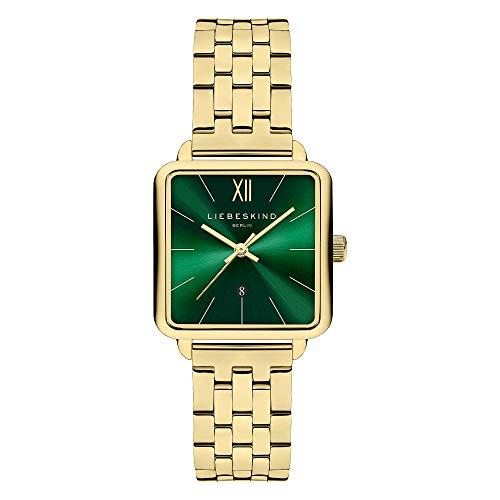 Liebeskind Berlin Damen Analog Quarz Uhr mit Edelstahl Armband LT-0181-MQ