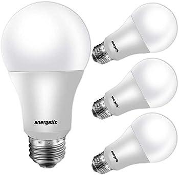 4-Pack Energetic Smarter Lighting 40W Equivalent A19 LED Light Bulb