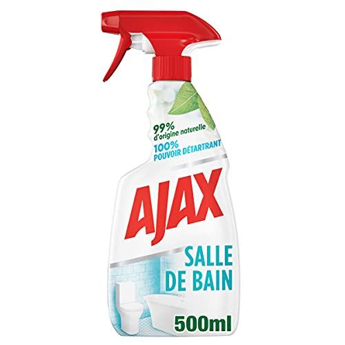 AJAX – Spray multisuperficie para cuarto de baño – Limpiador para el hogar antical, antiincrustantes – 500 ml