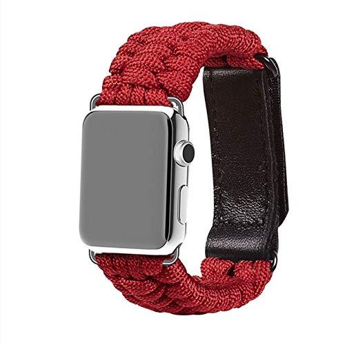 Correa de la Cuerda de Supervivencia al Aire Libre Aplicar a Apple Watch Band 44 mm 40 mm 42mm 38mm Pulsera de Cuero iWatch Aplicar a Apple Watch Series 5 4 3 44mm