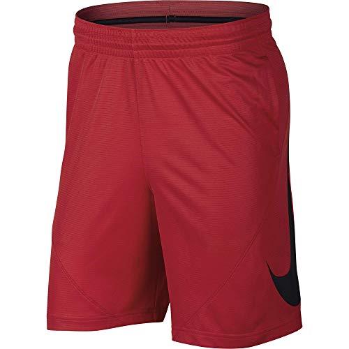 NIKE Men's HBR Basketball Shorts, University Red/Black/White/White, Large