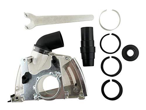 PRODIAMANT Absaugung Trennscheibe passend für 115mm und 125mm Winkelschleifer staubabsaugen für Diamanttrennscheiben