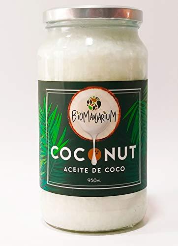 BIOMANJARIUM Aceite de Coco Virgen Extra Orgánico, Ecológico y 100% Natural, ideal para...