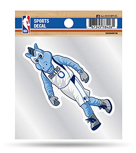 Dallas Mavericks Mascot Logo Premium 4x4 Decal with Clear Backing Flat Vinyl Auto Home Sticker Basketball