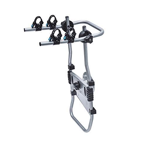 Fahrradträger für Anhängerkupplung 2 Fahrrader für Auto mit Reserverad hinten montiert Stahl Fahrradheckträger Auto Faltbar Fahrradhalterung Heckklappe Schrumpfbar Fahrradanhänger Heckträger E-Bikes
