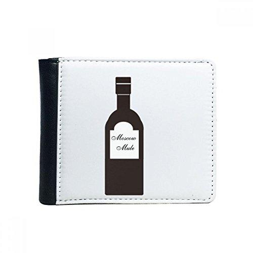 DIYthinker Schraubendreher Wodka Orangensaft Cocktail Flip Bifold Kunstleder Geldbörse Multifunktions-Karten-Geldbeutel-Geschenk
